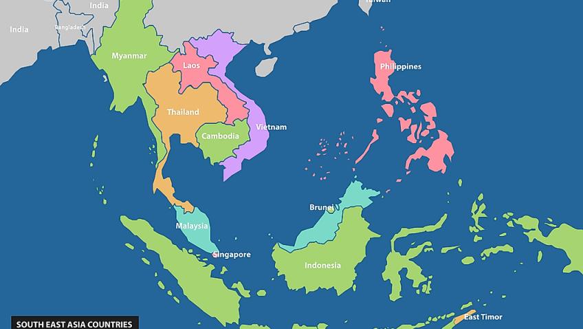 Malezija prosvjeduje zbog kineskih brodova u svom moru Southeast-asian-countries-848x478
